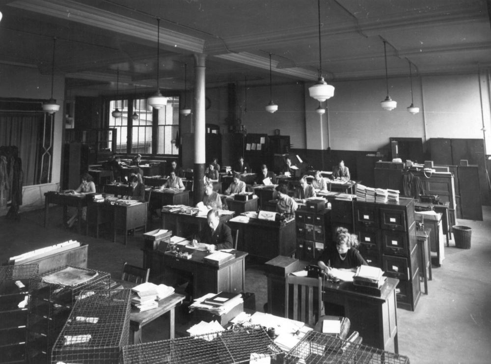Wesleyan – Office Workers    Wesleyan has always had its Head Office in Birmingham city centre and here are some pictures from throughout the decades of staff hard at work putting policies together and dealing with claims.
