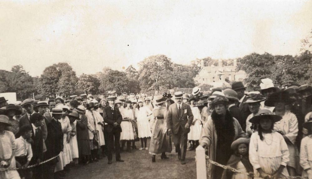 Wesleyan – Staff Sports Day   During the early part of the 20th century, Wesleyan had its own Recreation Grounds in Handsworth Wood where staff could play a variety of sports. This is a picture of the annual Staff Sports Day in the 1910s.