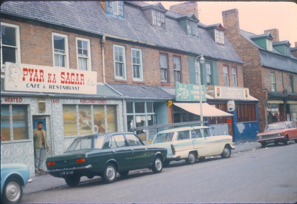 Balsall Heath Cleveland Road, near Balsall Heath Road, Shops & Cafes. 25th September 1968