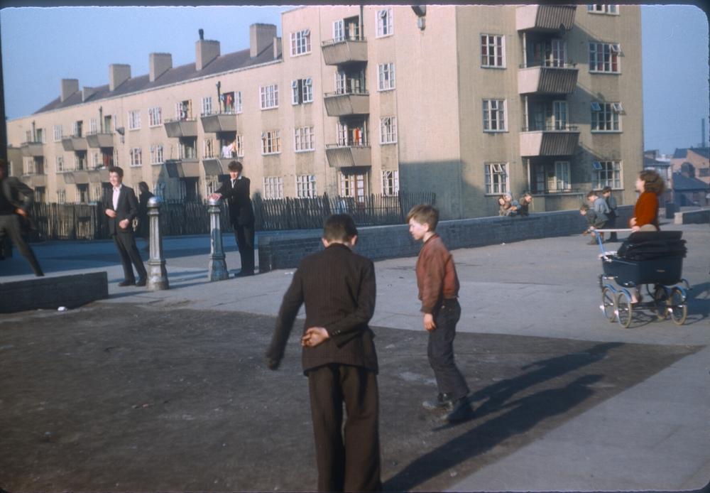 Balsall Heath Emily Street. St Martins Flats. 2nd March 1957