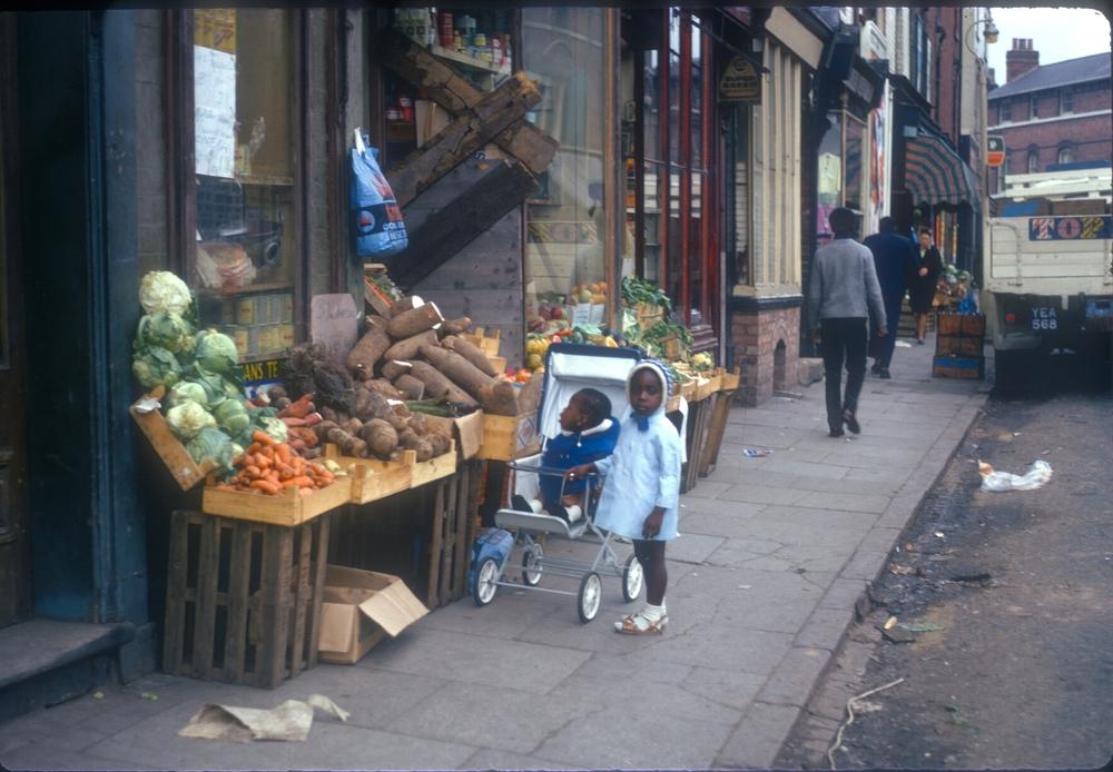 Balsall Heath Longmore Street (Children outside Eastside Vegetable Shop near Balsall Heath Road) 25th September 1968
