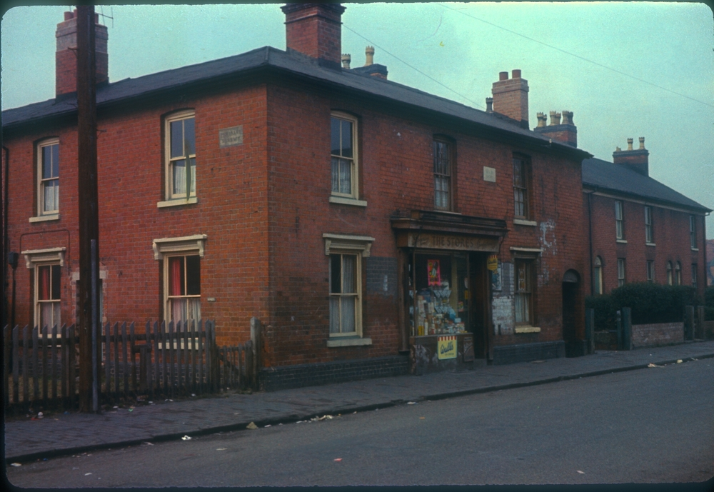 Balsall Heath Mary Street, Pleasant Terrace (The Stores, No69, dated 1850) 11th February 1967