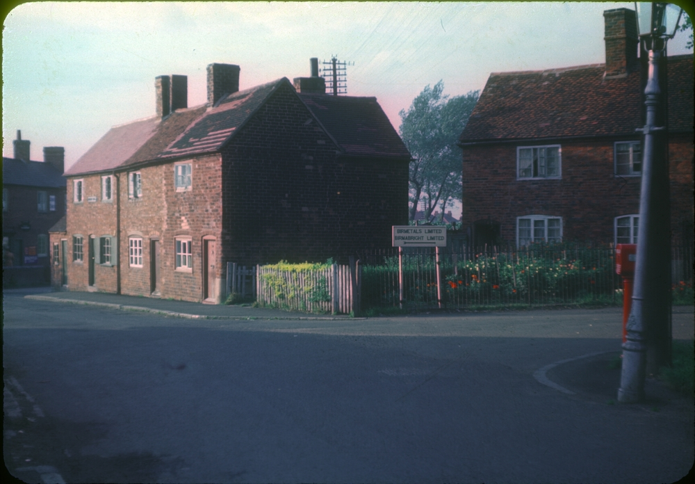 Bartley Green, Wood Gate Old Houses, Adams Hill and entrance to Bir Metals Factory. 25th September 1953