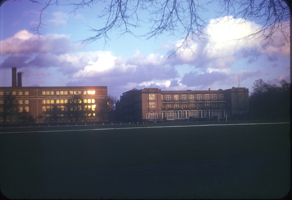 Bournville Cadburys Factory from Linden Road (First factory 1879) 26th February 1954