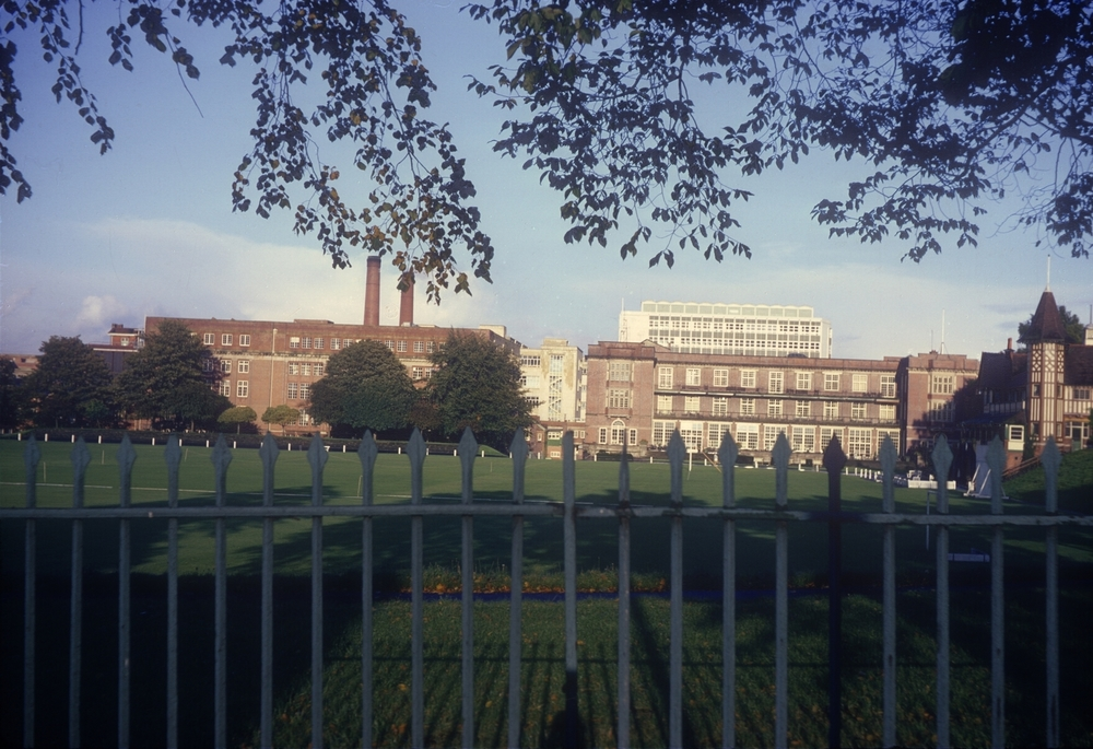 Bournville Factory Buildings from Linden Road. 23rd September 1968