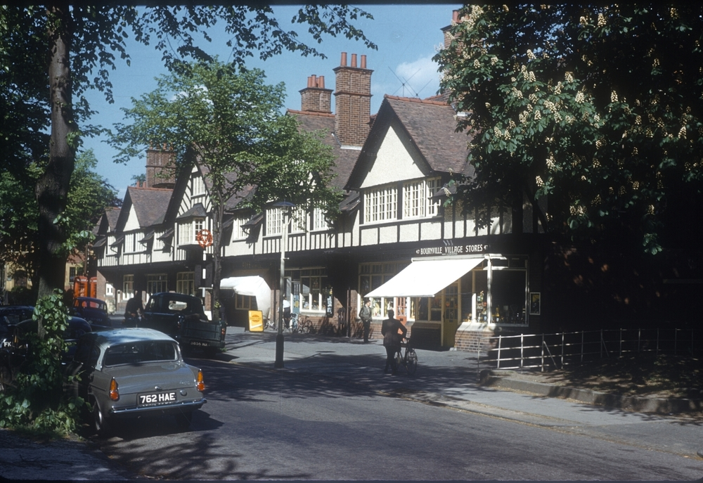 Bournville Village Green Shops. 25th May 1960