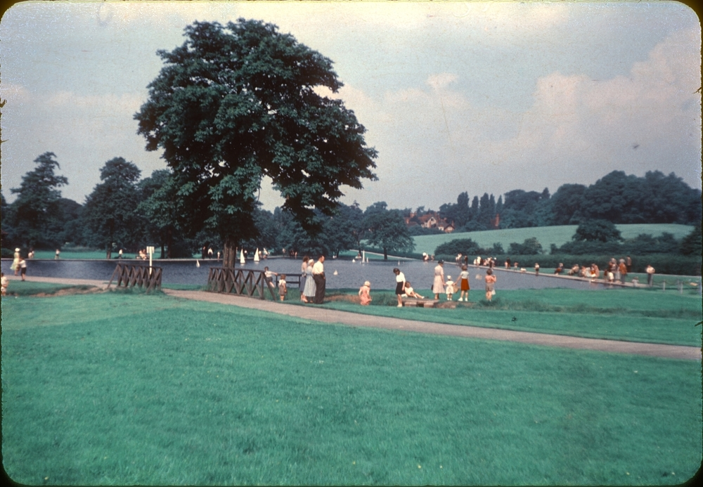 Bournville Woodbrooke Road Park. 27th June 1953