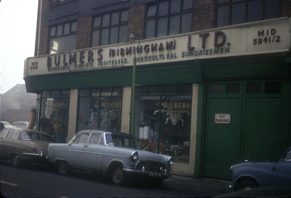 Dean St, Sherlock St Corner - Bulmers Ltd, Wholesale Florists, Fruiterers and Horticultural Sundriesmen - Market area of the city. 28th November 1968