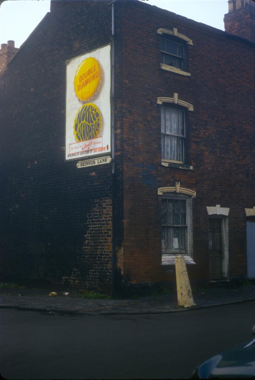 Dean St, Skinner Lane Corner - The market area. 28th November 1968