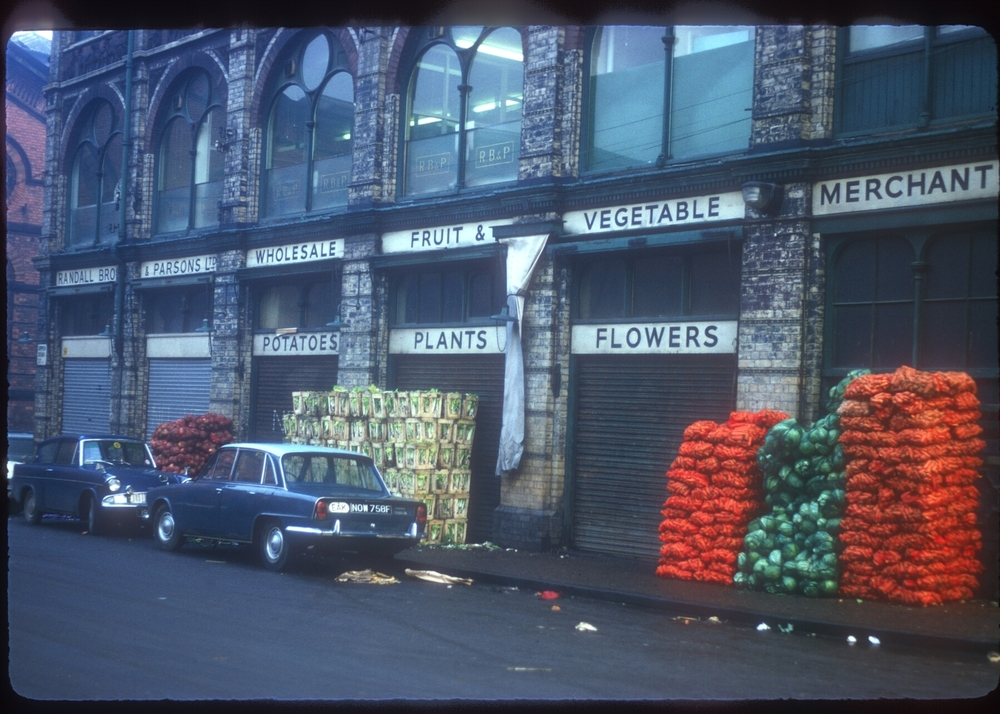 Upper Dean St - Jamaica Row - Market Area, Randall Bros and Parsons Ltd Wholesale fruit and veg merchants. 28th November 1968