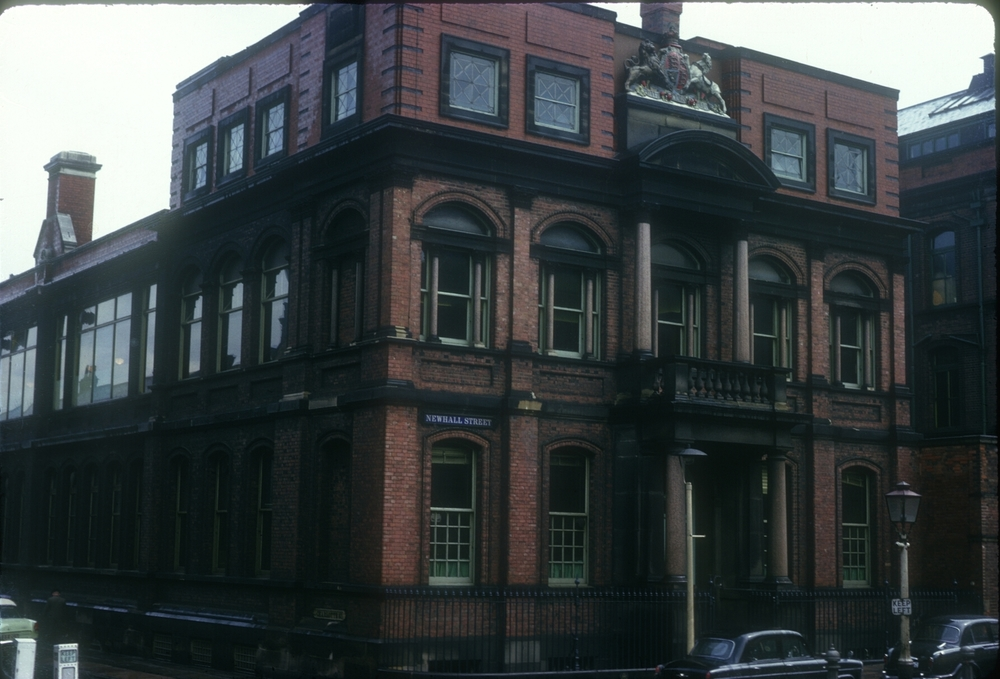 Assay Office - Newhall StCharlotte St - Moved to this site in 1879. 14th May 1963