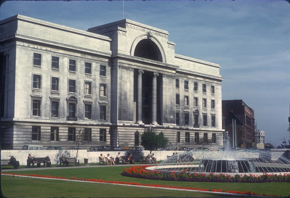 Birmingham Civic Centre, Broad Street, Centenery Square, Baskerville House. 28th August 1961