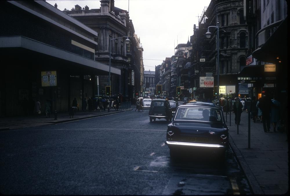 Birmingham New Street from near Marshall and Snelgrove (Corporation Street Corner) 25th September 1968