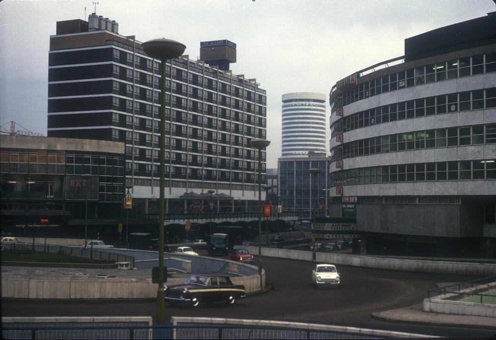 Birmingham Smallbrook Ringway, Albany Hotel, Scala Cinema & Holloway Circus. 6th January 1966