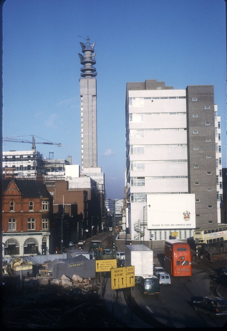 Lionel St and the GP Tower (College of Food) 1st June 1969