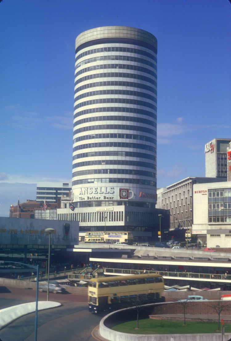 Rotunda & Bull Ring, View Point, Carpark Roof. 15th March 1968