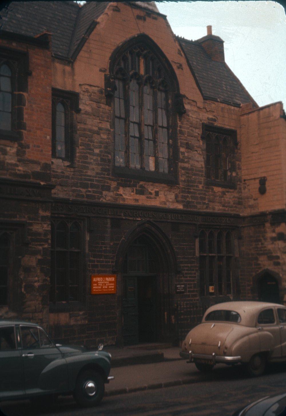 Gun Quarter Bath Street. St Mary's School rebuilt 1845. (Gunworks in 1960) 25th March 1960