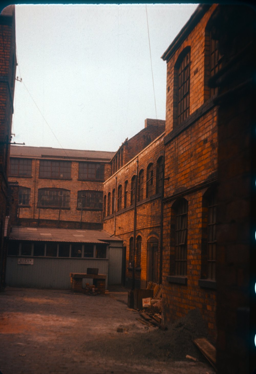Gun Quarter Price Street, Off Loveday Street. Backyard works behind Lightwood and Sons Ltd (Partridge Works, Engineers and Gun Accessory Makers) 5th March 1960
