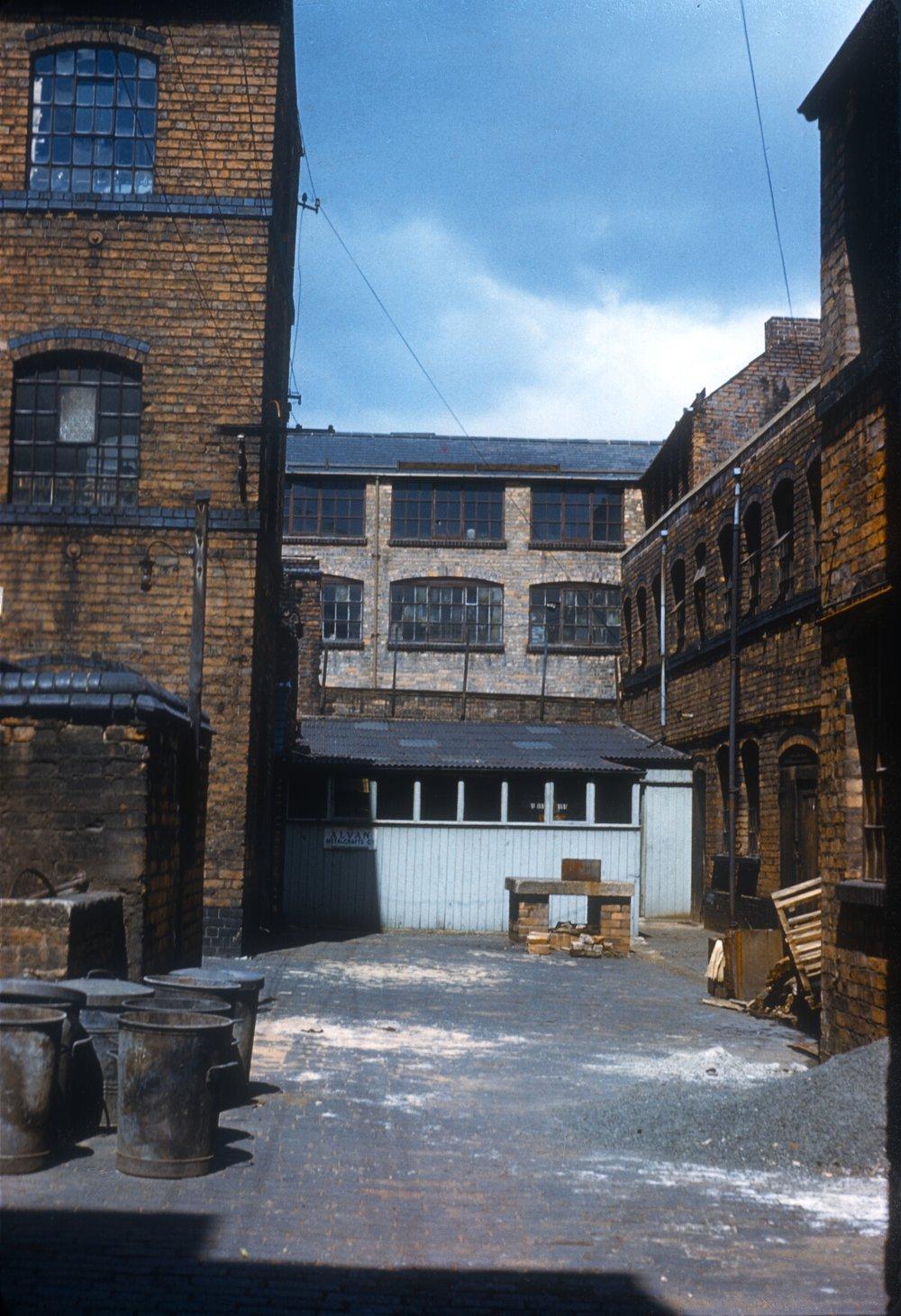 Gun Quarter Price Street, Off Loveday Street. Workshops behind The Partridge Works. 13th June 1960