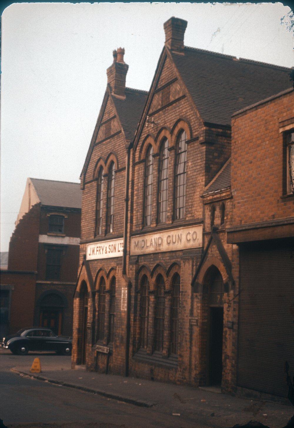 Gun Quarter Whittall Street. Midland Gun Company (Site of Church Hall 1865) 25th March 1960
