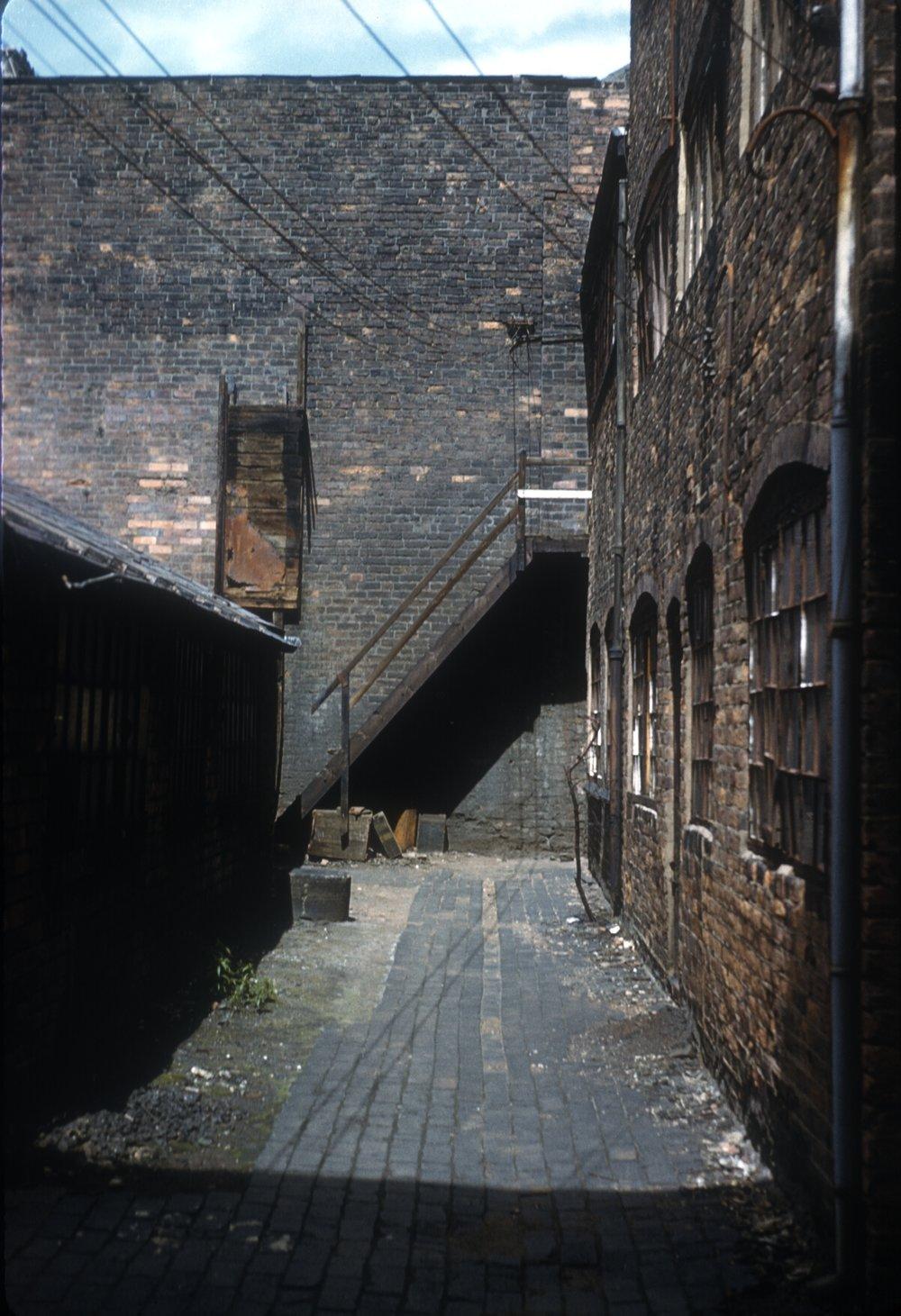 Gun Quarter, St. Mary's Row. Inner Yard & Gun Smith's Workshops. 13th June 1960