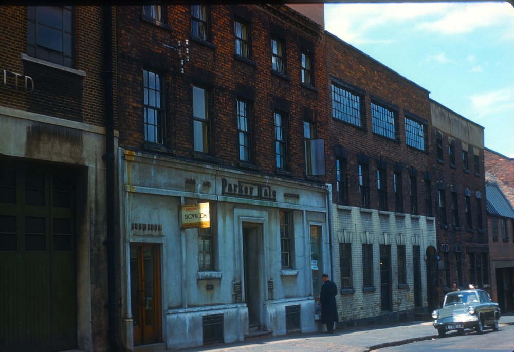 Whittall Street, Entry to Andertons Square. Parker-Hale Arms & Accessories (Workshops built c.1773) 13th June 1960