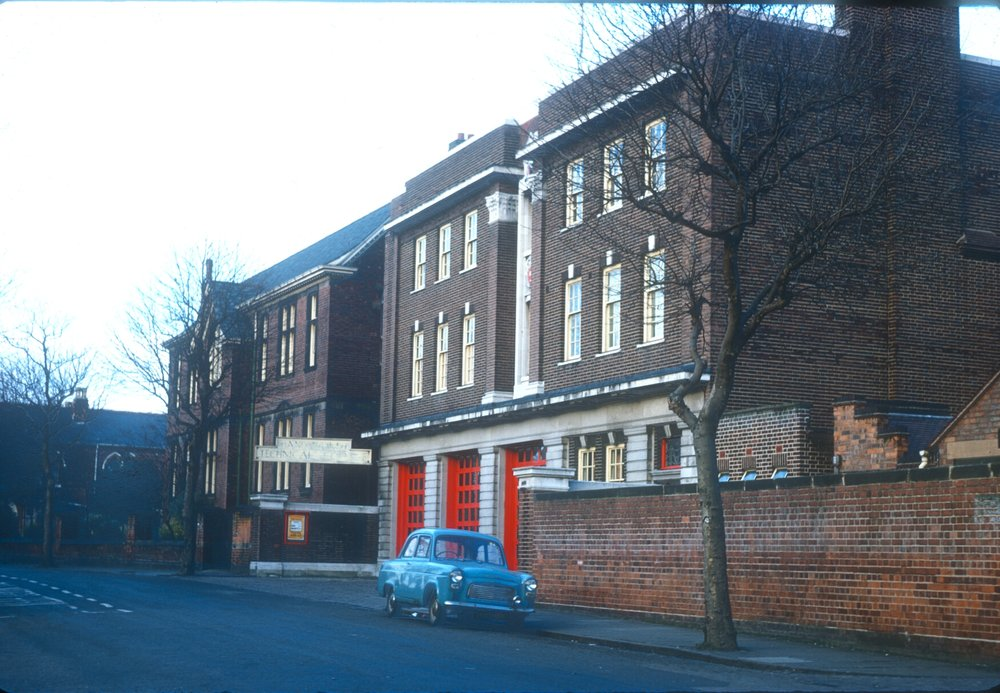 Handsworth Firestation and Technical College, Golds Hill Road. 9th March 1968