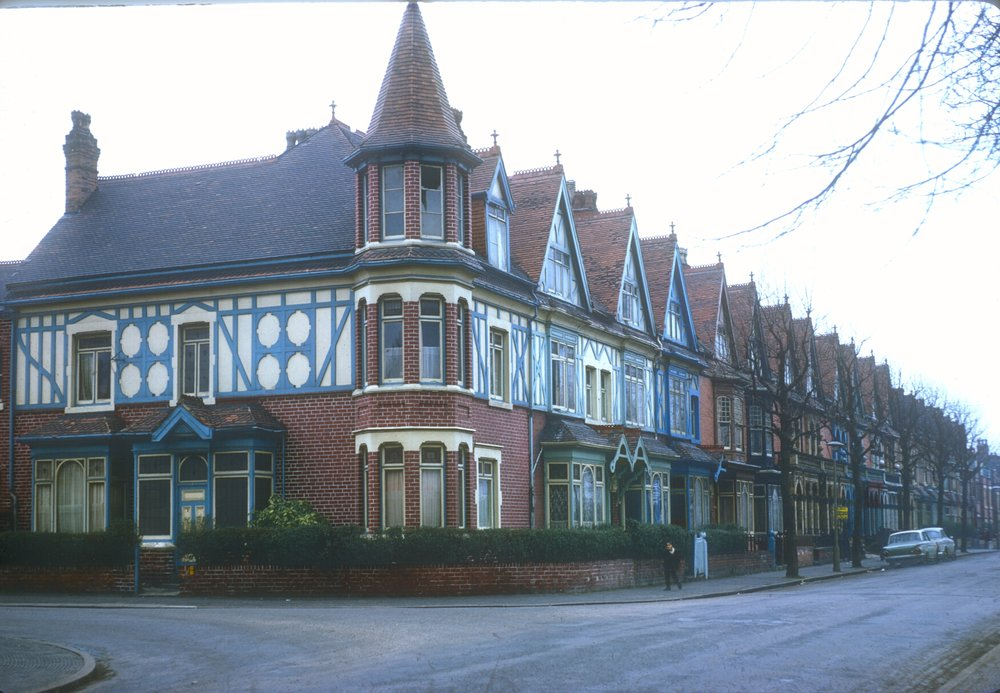 Handsworth House on Holly Road, York Road Corner. 8th March 1968