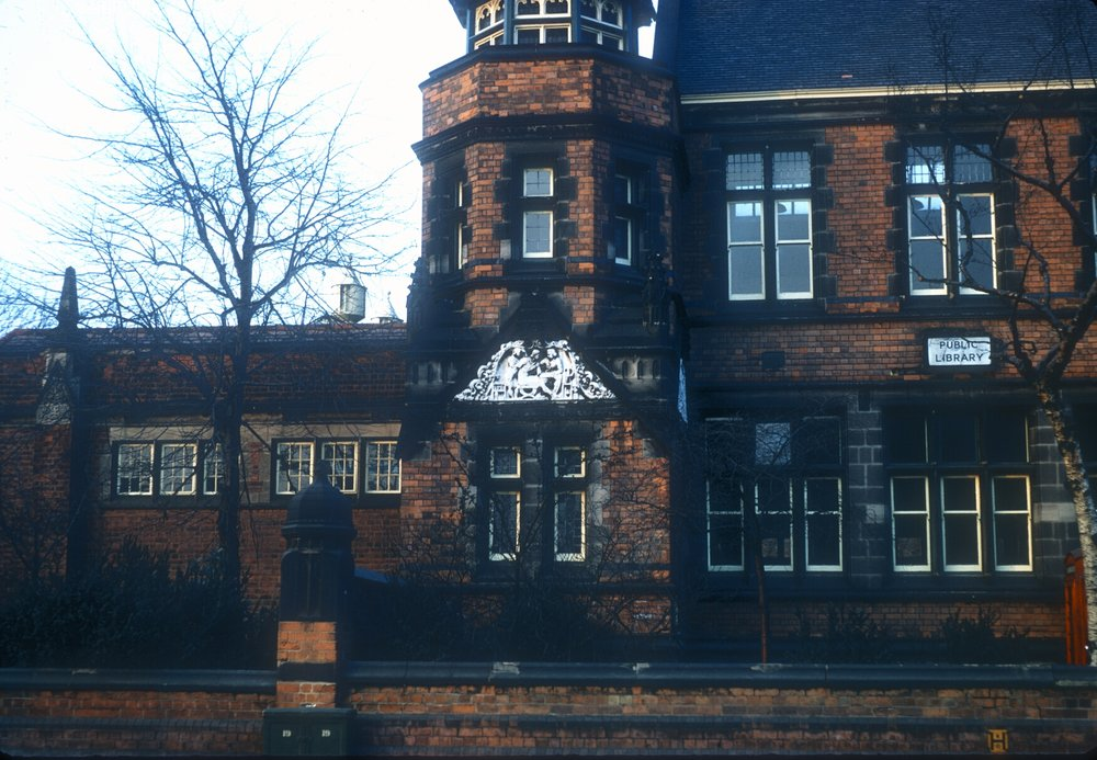 Handsworth Library & College of Art. Formerly District Council Offices 1878-9. Soho Road, Stafford Road Corner. 2nd March 1968
