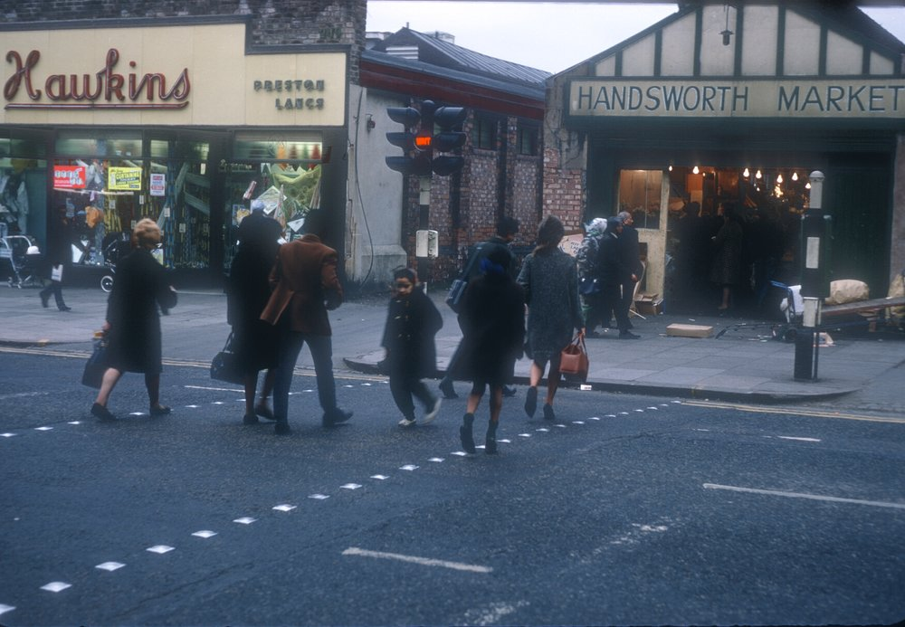 Handsworth Market, Soho Road. 9th March 1968