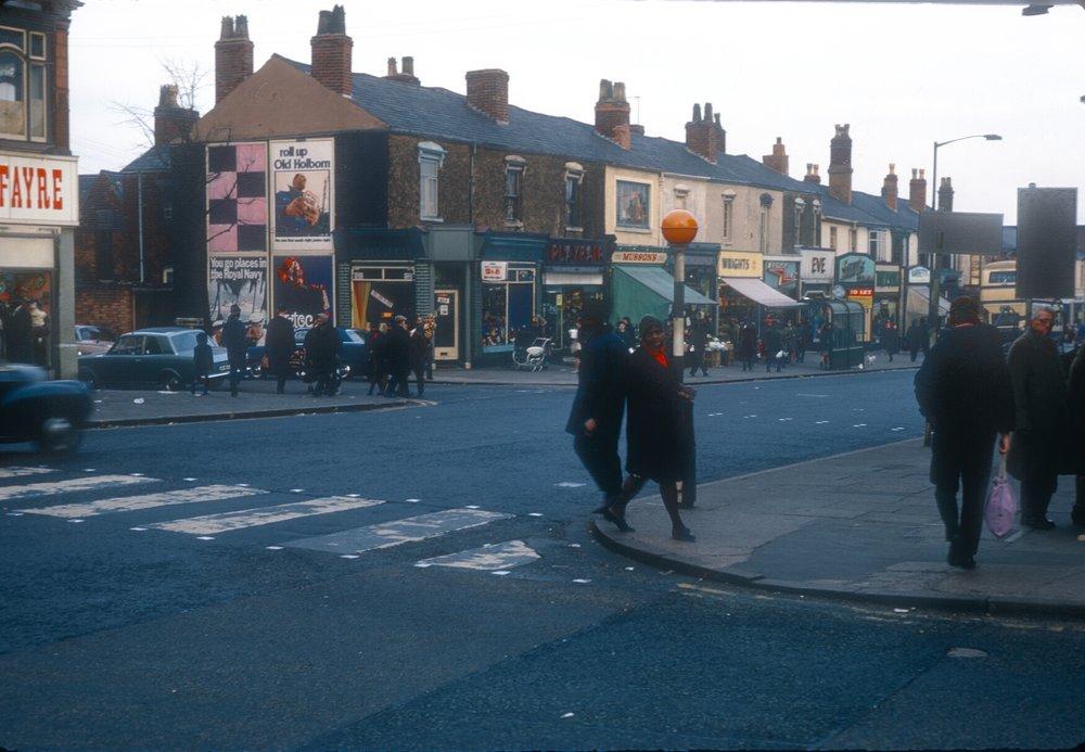 Handsworth Soho Road, Boulton Road Corner. 9th March 1968