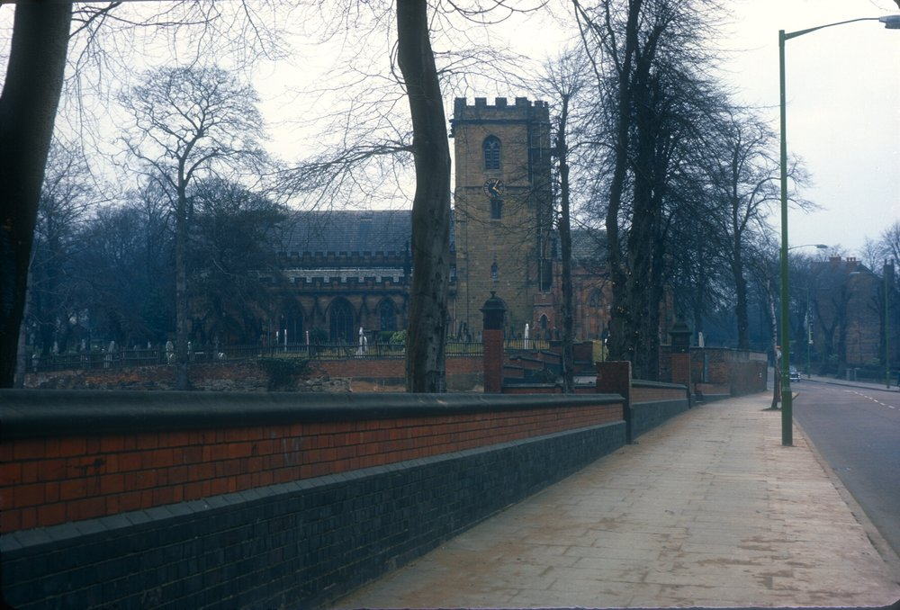 Handsworth St Mary's Church, Hampstead Road (Church Hill established pre-1200) 8th March 1968