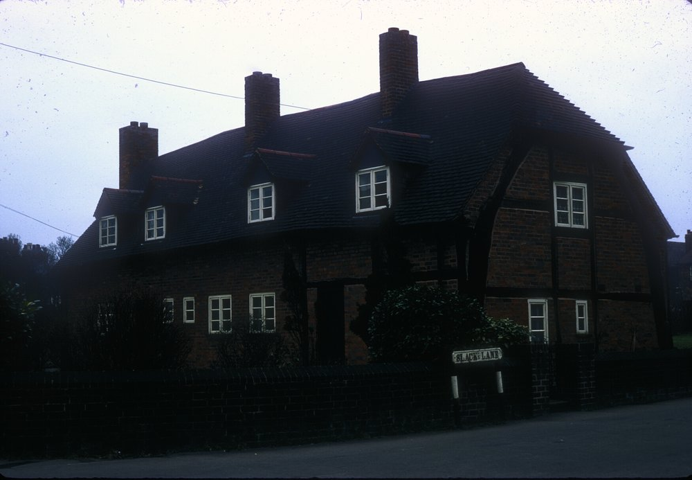 Handsworth, Old House on Slack Lane. College Road off Oxhill Road (Near the Grove) 8th March 1968.jpg