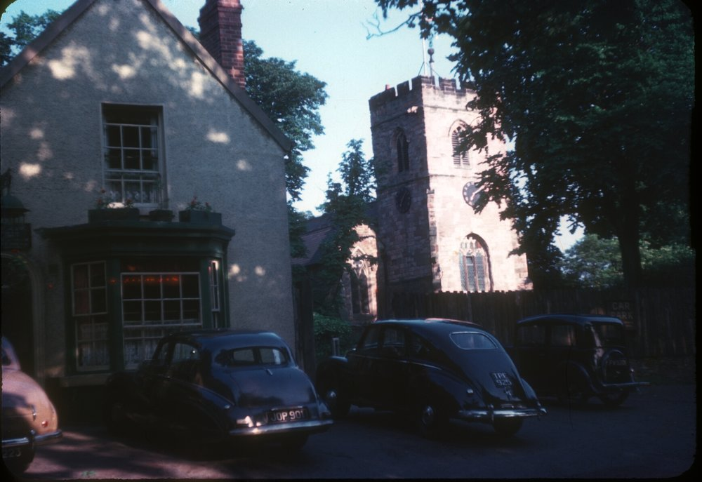 Harborne - St Peter's Church & Bell Inn. 25th September 1953