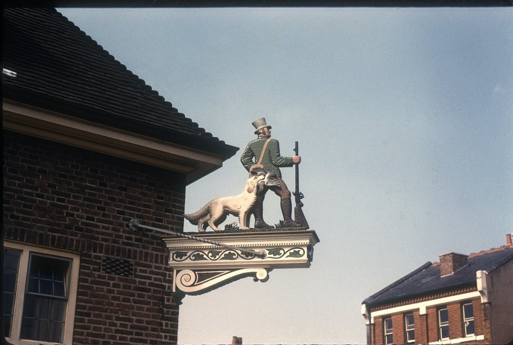 Harborne High Street, The Green Man. 12th August 1960