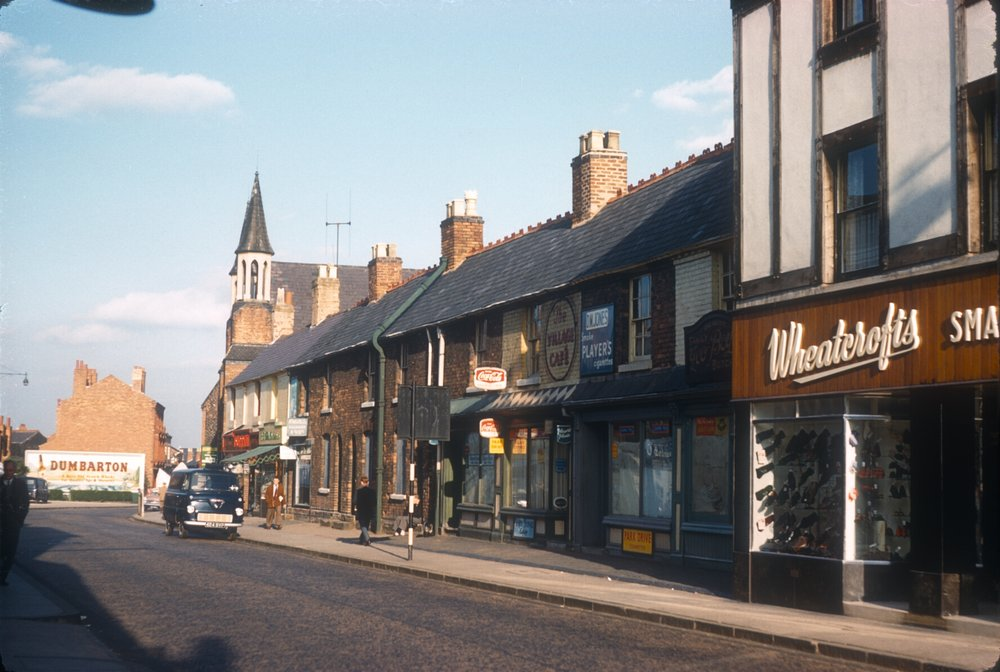 Harborne High Street. Harborne Terrace (Right) Wheatcrofts No.350. 12th August 1961