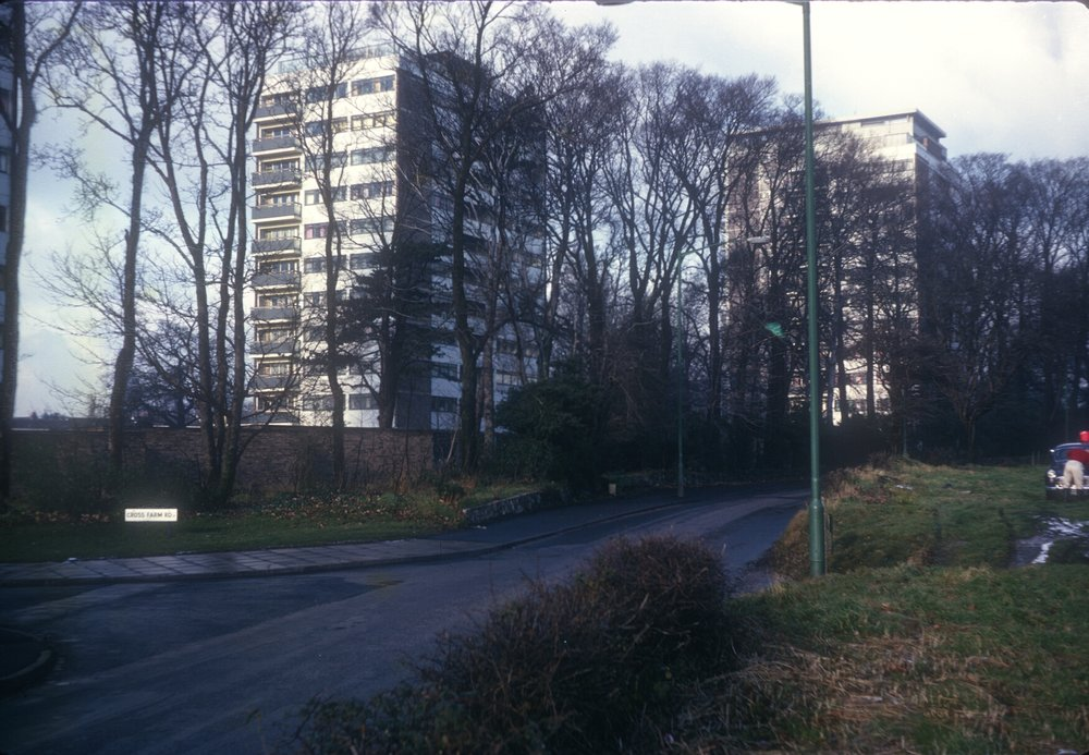Harborne Metchley LaneCross Farm Rd Metchley Grange Flats. 3rd December 1966