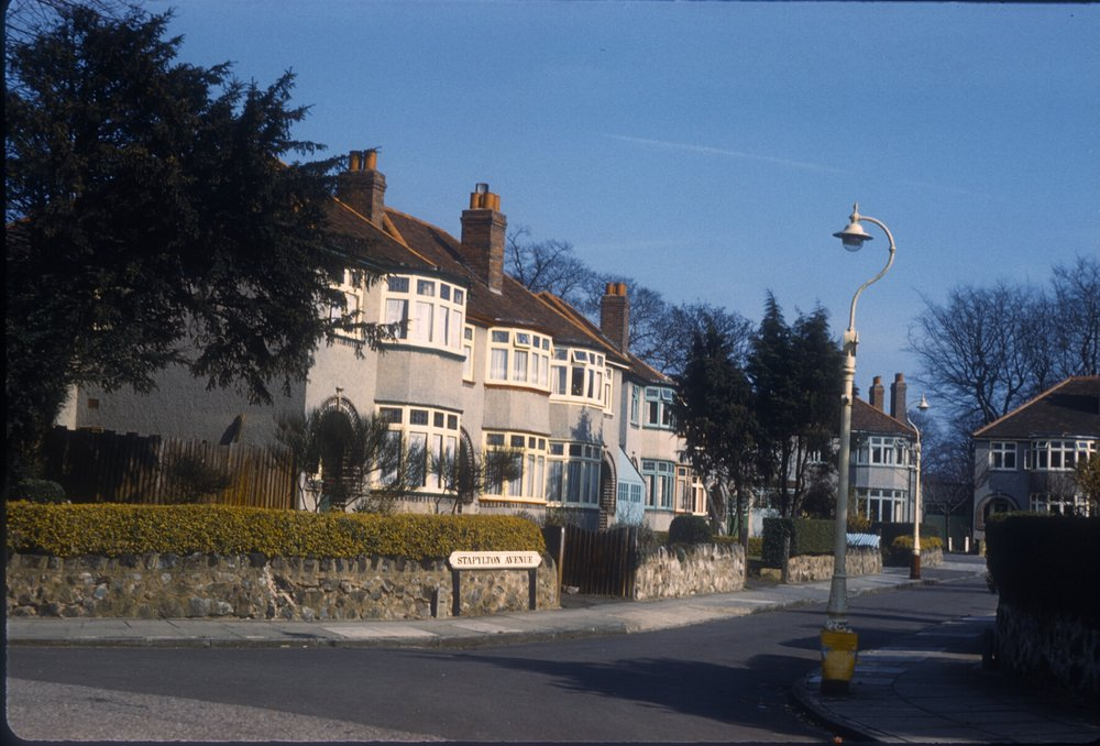 Harborne Stapylton Avenue, off St Peter's Road. 6th March 1961