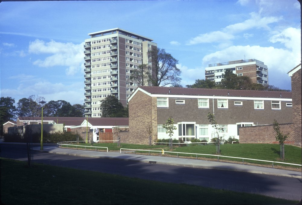 Harborne, Metchley Grange Estate, View from Metchley Drive. 6th September 1967