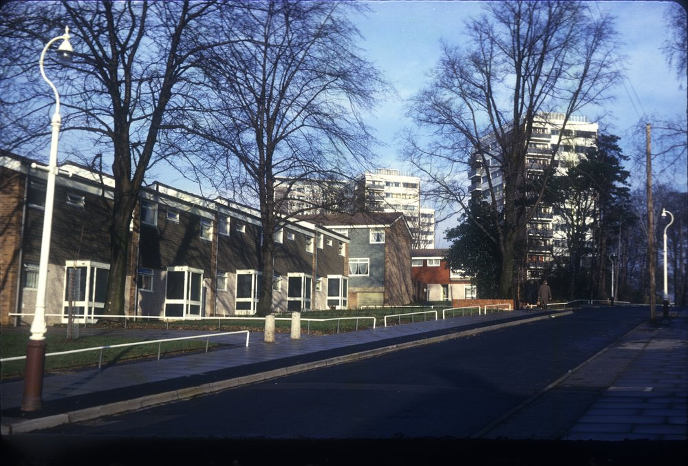 Harborne, Metchley Grange Estate, Cross Farm Rd & Flats. 3rd December 1966