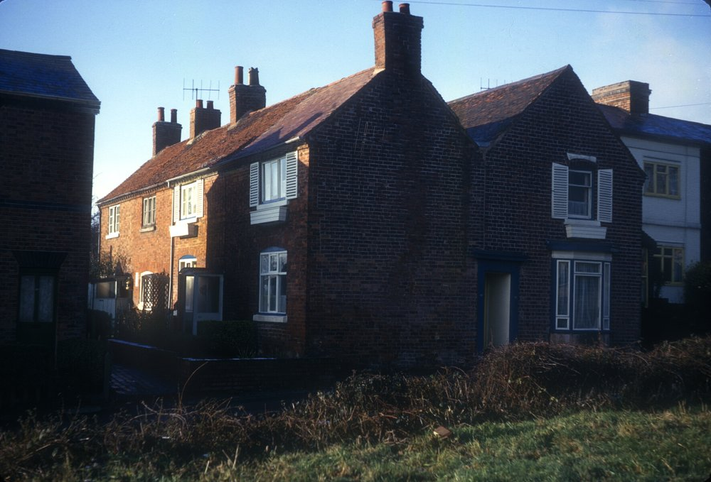 Harborne, Metchley Lane, Cottage Terrace. 3rd December 1966