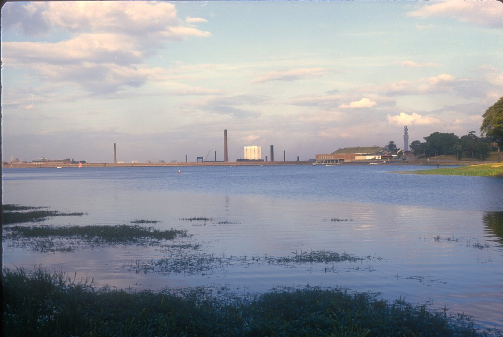 Edgbaston Reservoir (View Near Rotton Park Road Entrance) GPO Tower to the right. 6th September 1967
