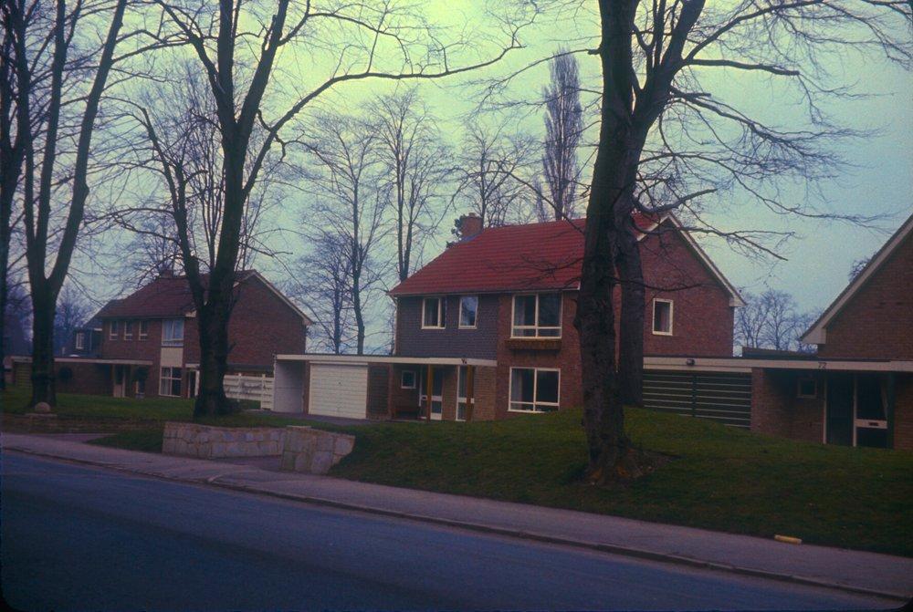 Edgbaston Richmond Hill Road East side. Near Somerset Road Corner. 11th February 1967