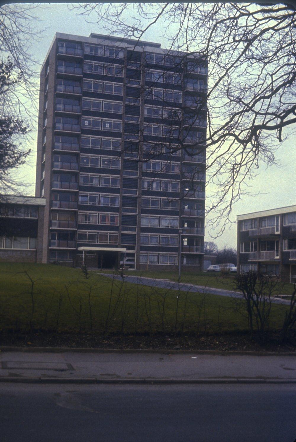 Edgbaston Richmond Hill Road Flats. 11th February 1967
