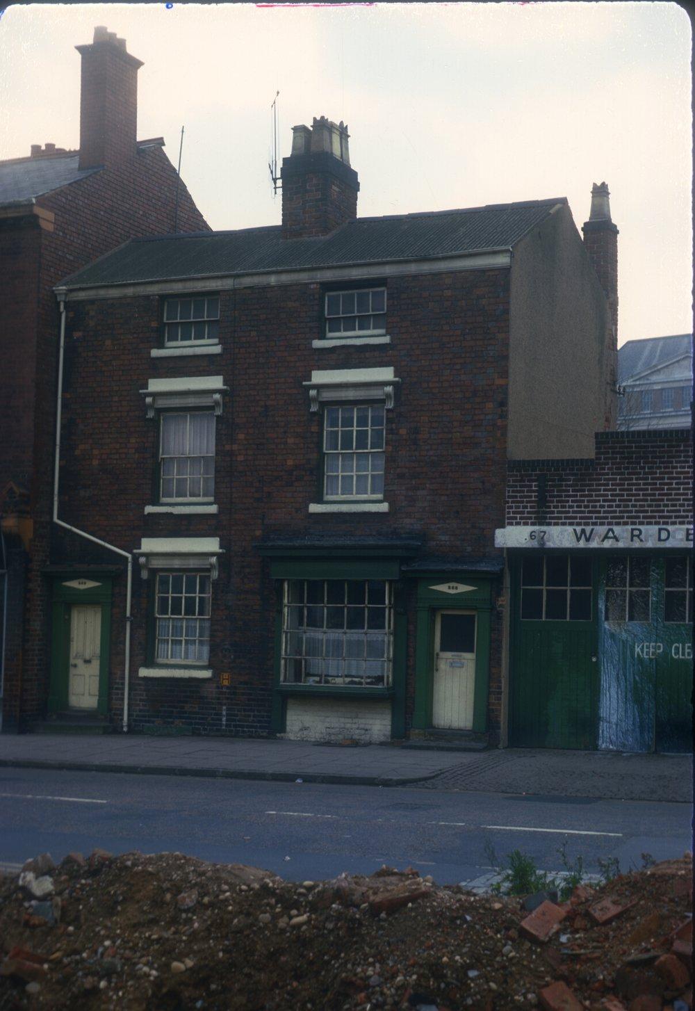 Five Ways, Edgbaston (258-259 Ladywood Road. Wardells Garage - Former Dairy) 3rd December 1967