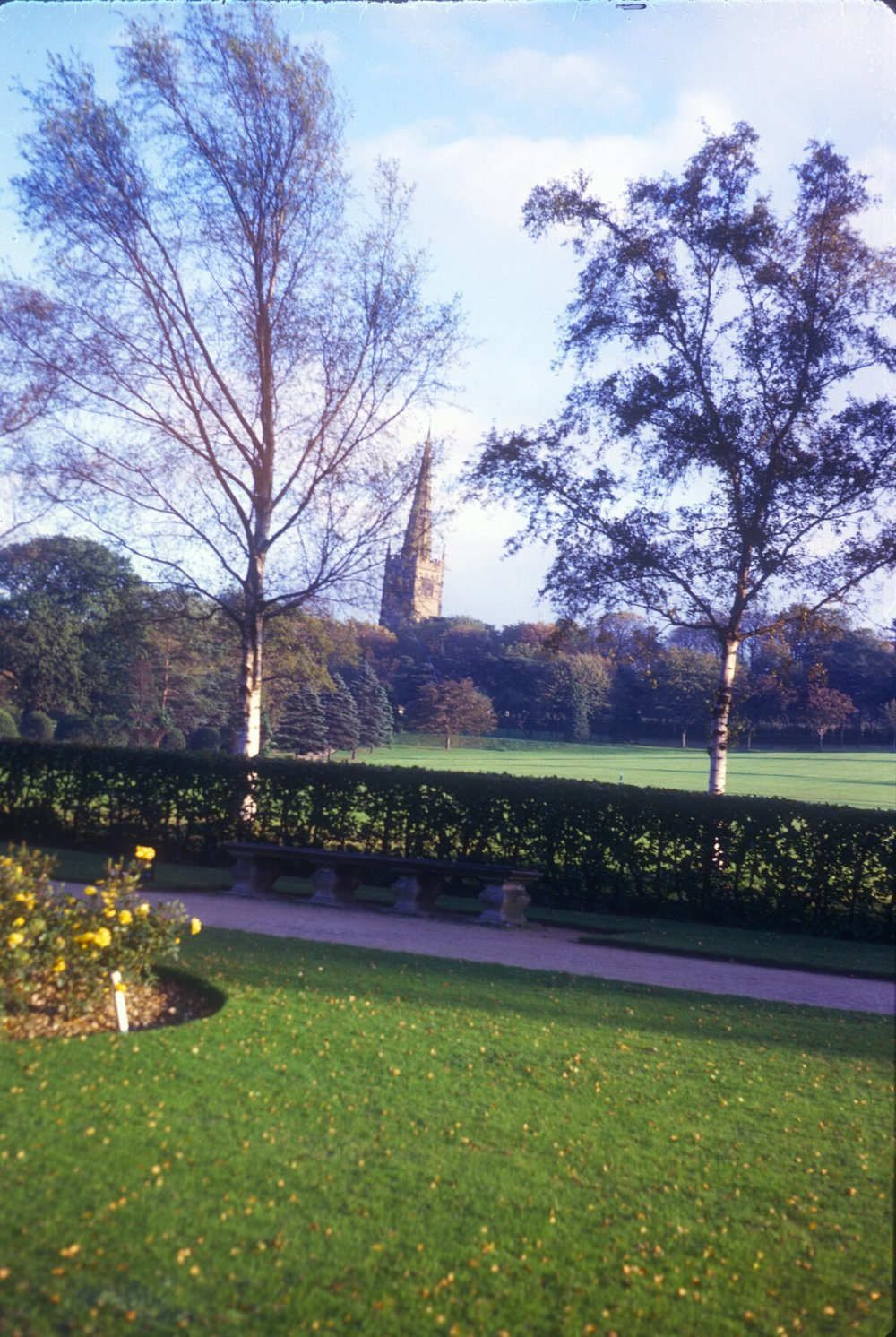 Kings Norton Park, Church in background. 12th September 1963