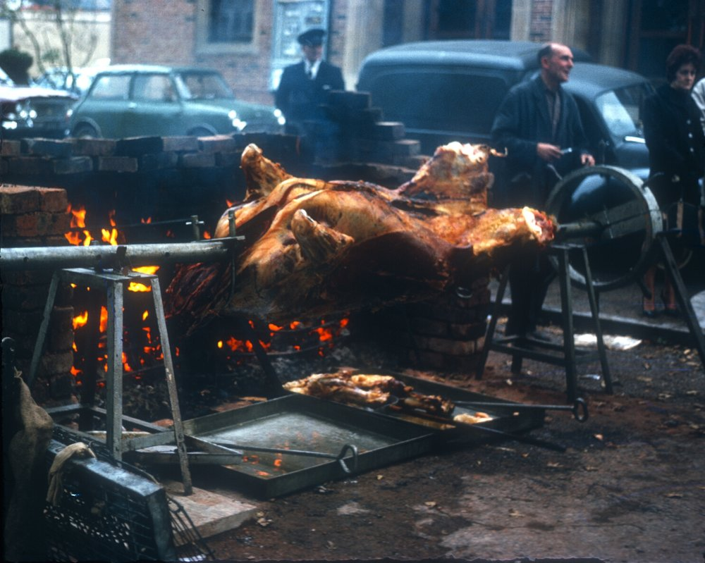 Kings Norton, The Mop, Ox & Pig Roasting. 7th October 1963
