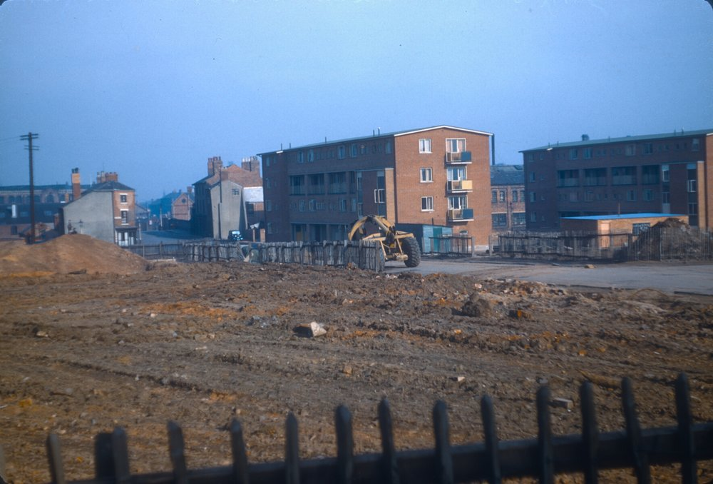 Ladywood redevelopment, maisonettes, Browning St. 2nd March 1957