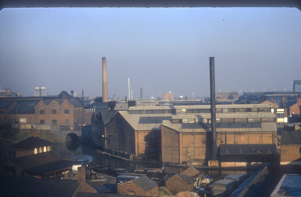 Ladywood, Icknield Port Wharf, Icknoeld Port Rd (View point - Rotton Park Rd Reservoir Dan) 9th November 1968