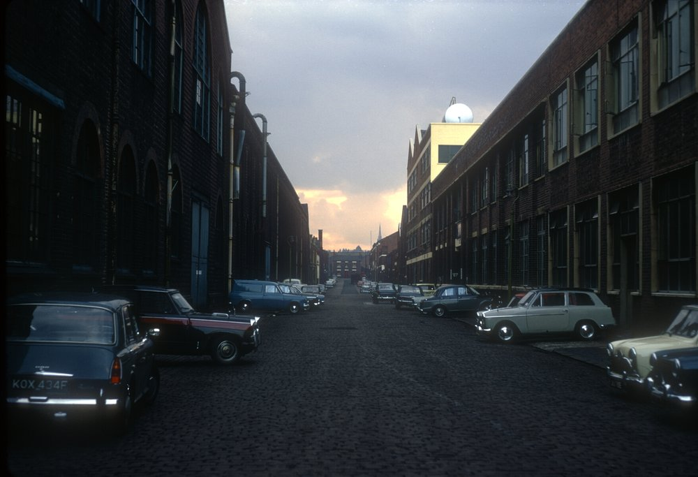 Ladywood, Rotton Park St off Icknield Port Rd (Bellis and Morcom (L) Pinchin Johnson Paints (R) 24th September 1968